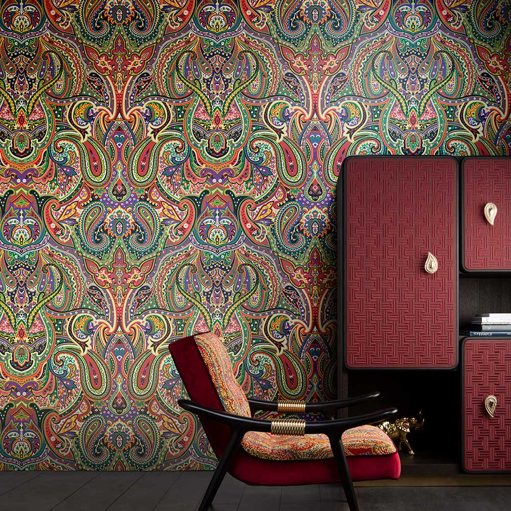 Kolty Mural - Multi-coloured - by Etro