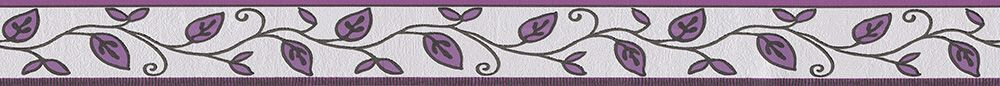 Leaf Trail Border - Purple - by Albany