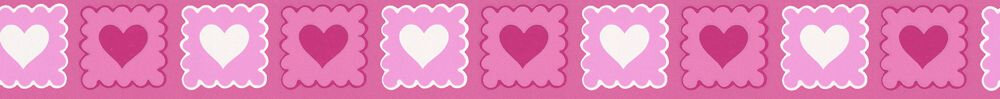 Pretty Hearts Border - Hot Pink - by Albany