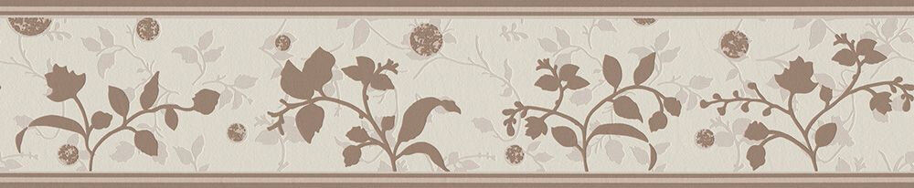 Branch Silhouette Border - Brown - by Albany