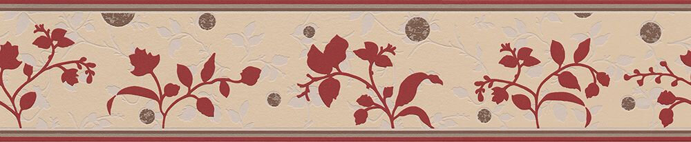 Branch Silhouette Border - Red - by Albany