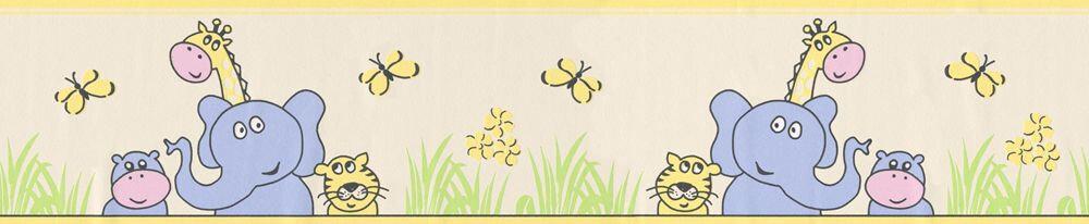Sunny Animal Border - Yellow - by Albany