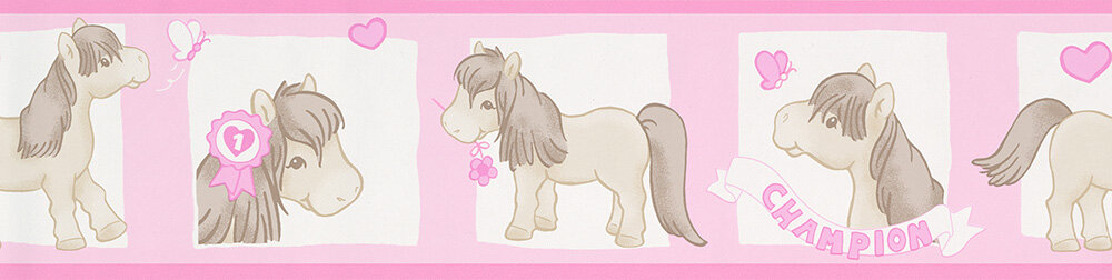Pony Champion Border - Pink - by Albany