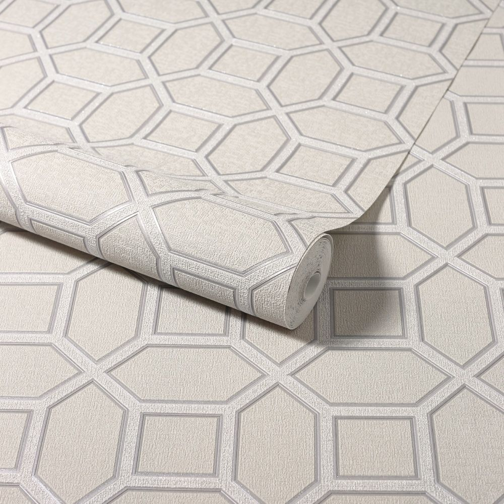 Luxe Origin Wallpaper - Taupe - by Arthouse