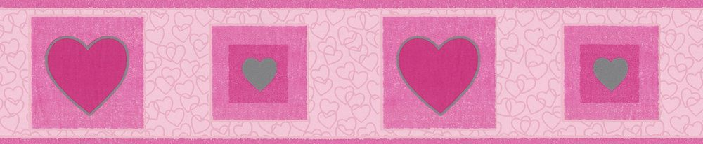 Heart Border - Pink - by Albany