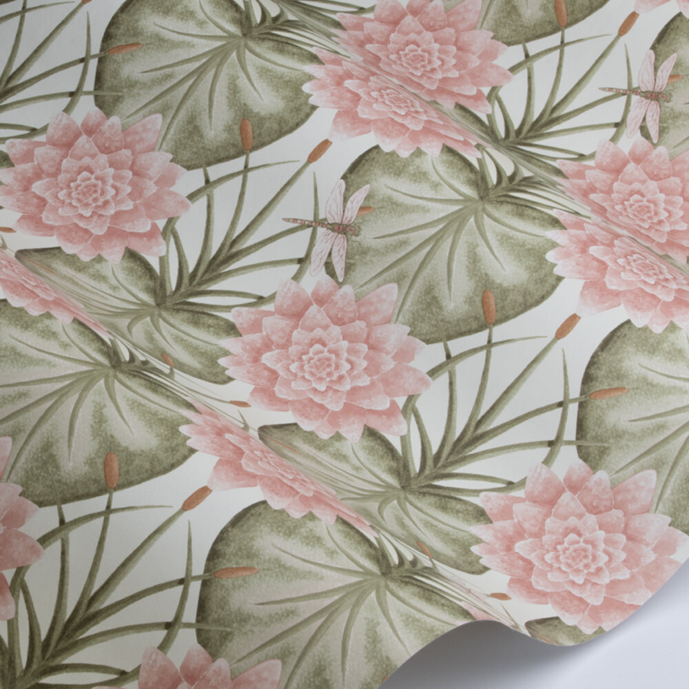 Lily Garden Wallpaper - Cream - by The Chateau by Angel Strawbridge