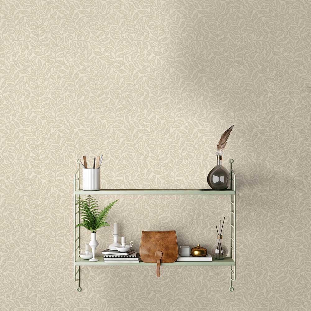 Ash Branch Wallpaper - Natural - by Crown