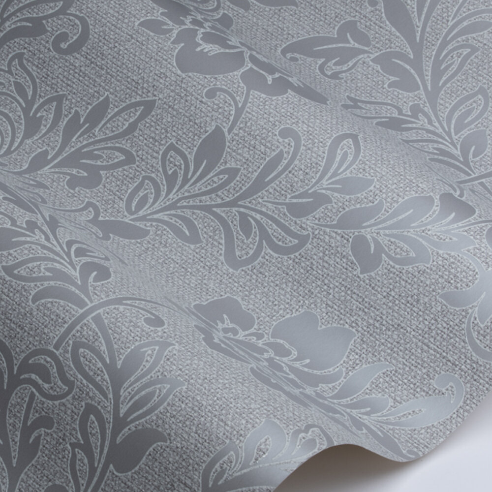 Calico Floral Wallpaper - Grey - by Arthouse