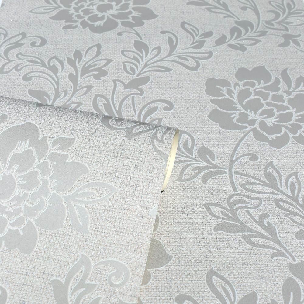 Calico Floral Wallpaper - Neutral - by Arthouse