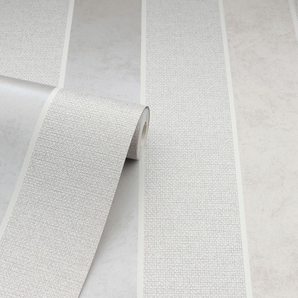 Calico Stripe Wallpaper - Neutral - by Arthouse