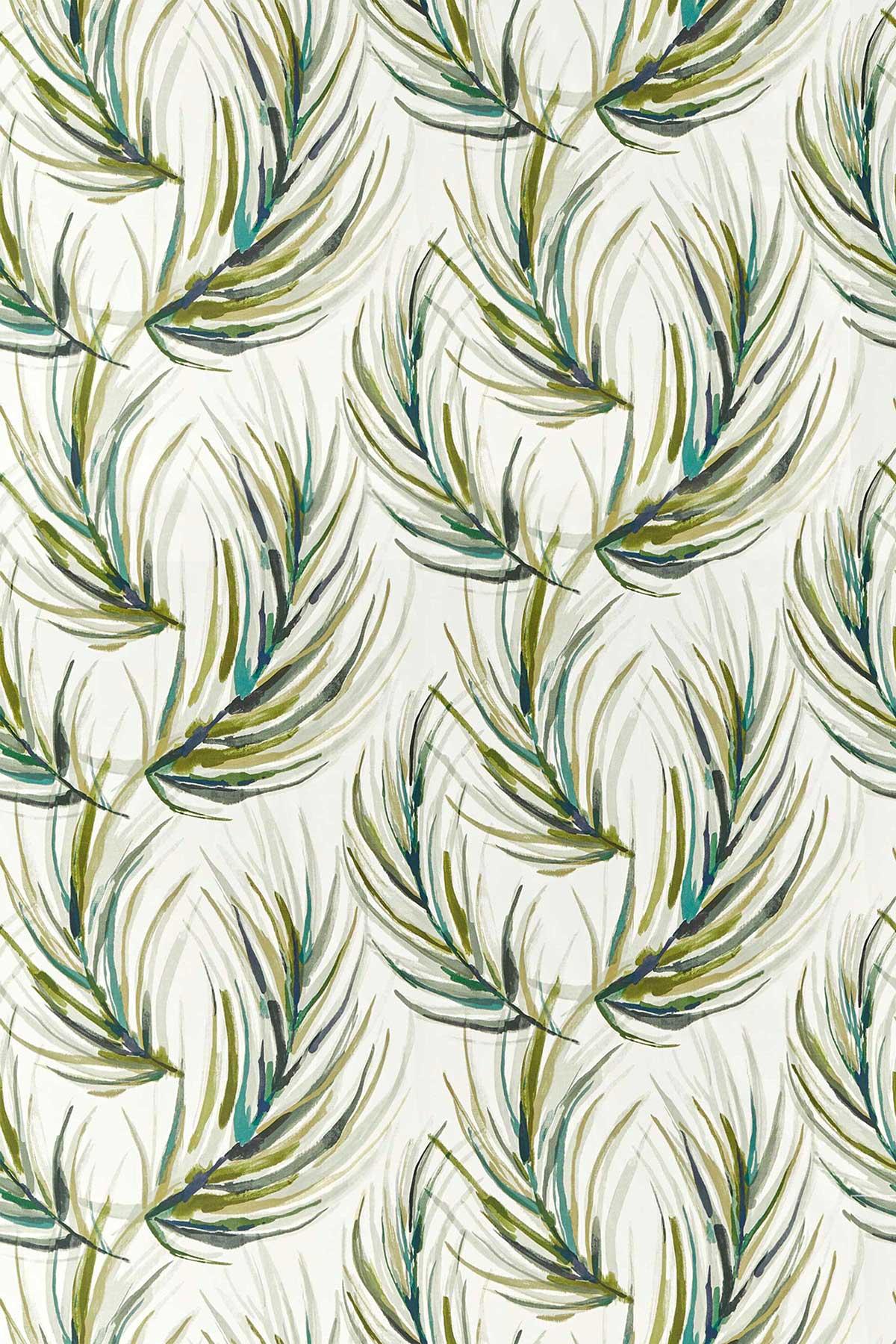Alvaro Fabric - Lime / Jade / Palm - by Harlequin