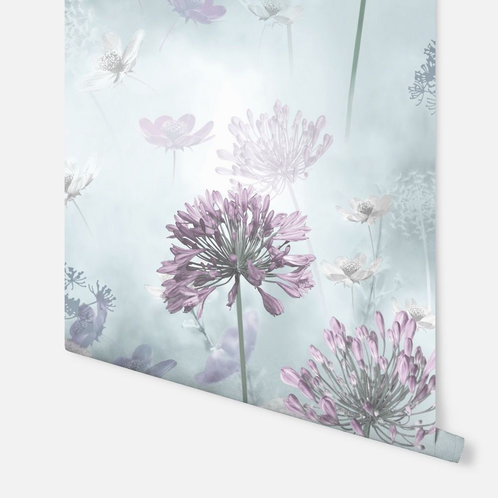 Spring Meadow Wallpaper - Duck Egg - by Arthouse