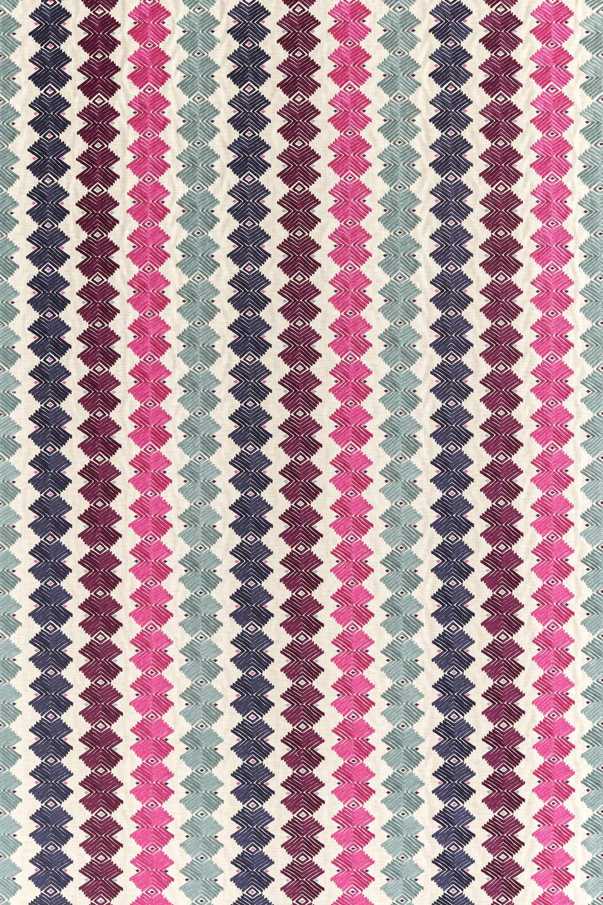Kalimba Fabric - Seaglass / Cerise / Indigo - by Harlequin