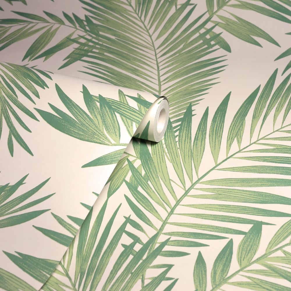 Tropical Palm Wallpaper - Green  - by Arthouse