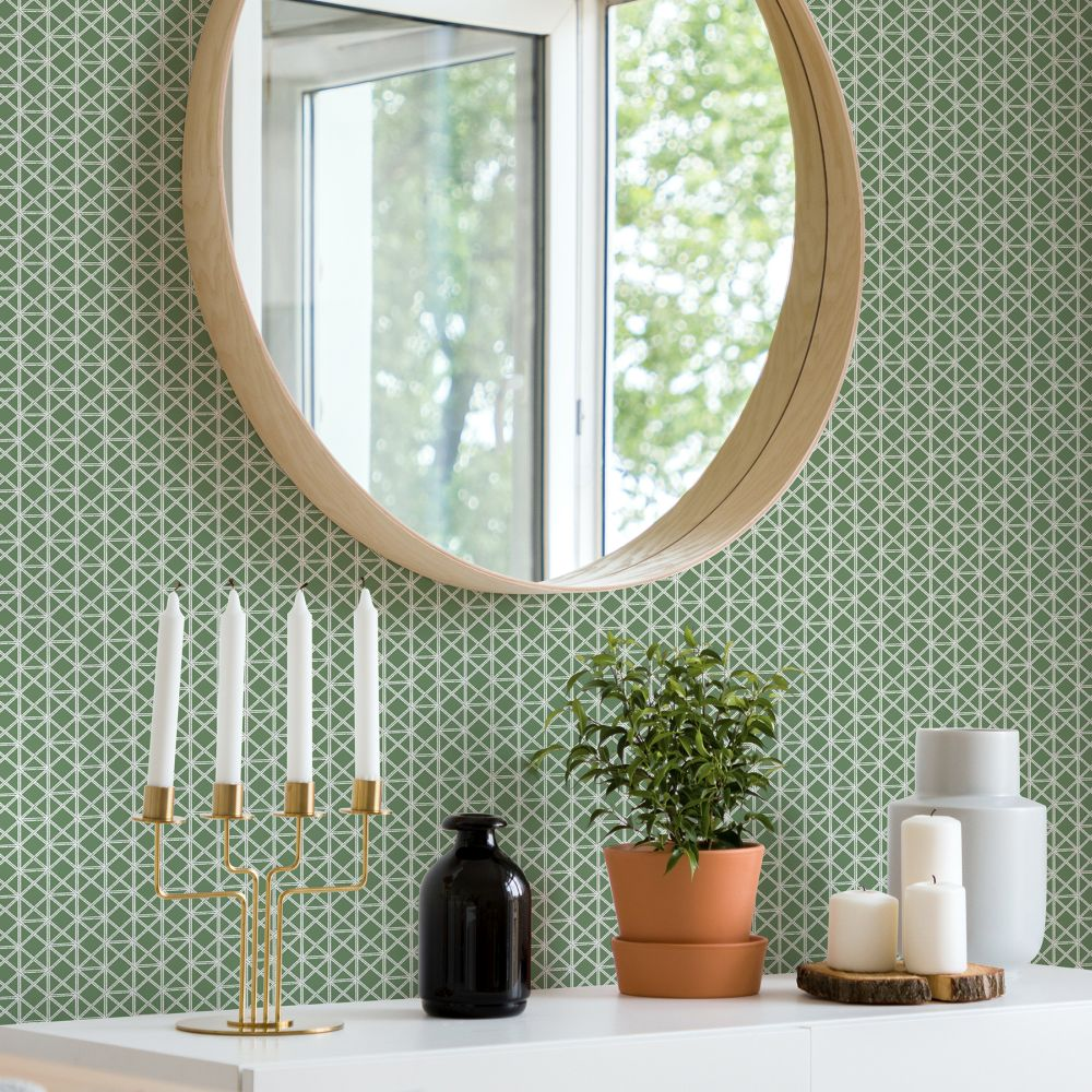 Lisbeth Wallpaper - Green - by A Street Prints