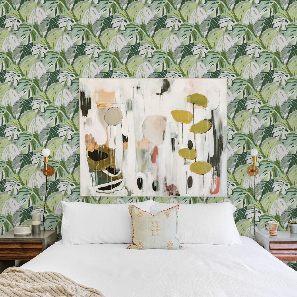Samara Wallpaper - Green - by A Street Prints