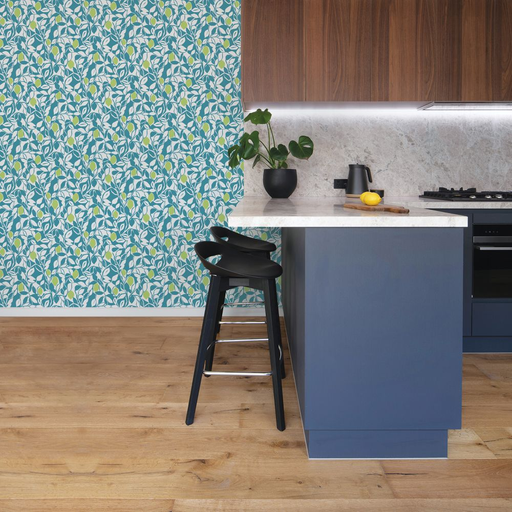 Loretto Wallpaper - Teal / Green  - by A Street Prints
