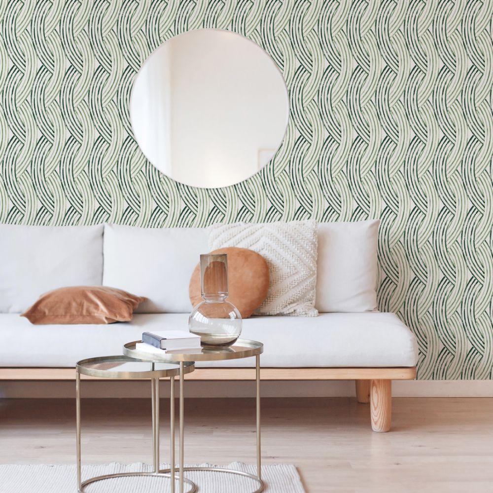 Zemora  Wallpaper - Green - by A Street Prints