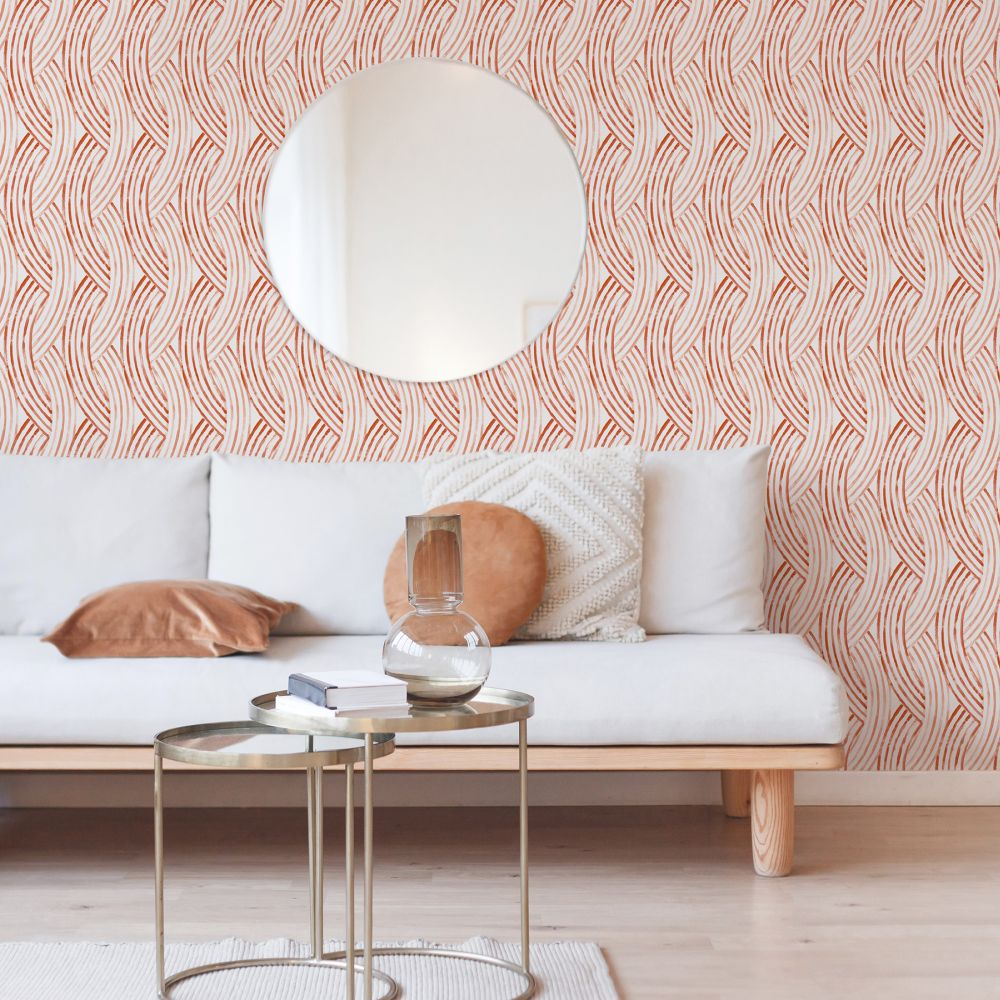 Zemora  Wallpaper - Coral - by A Street Prints