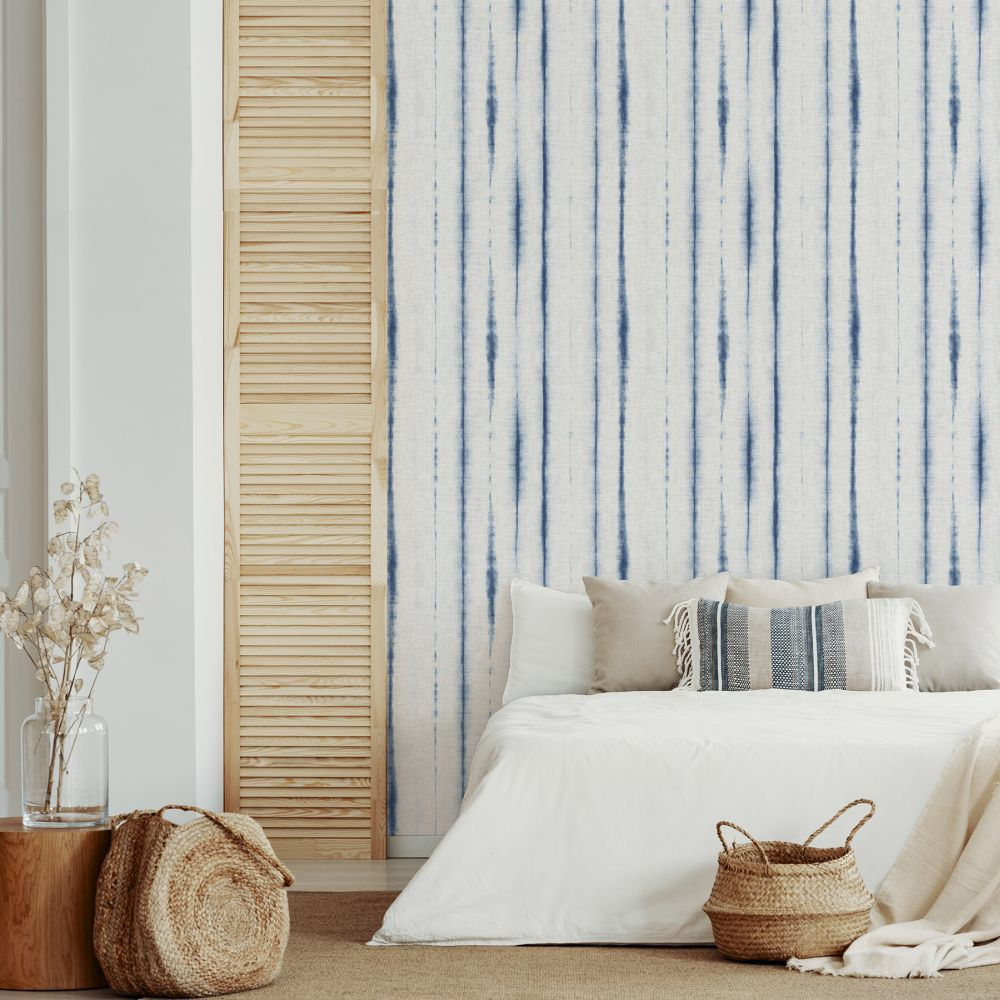 Orleans  Wallpaper - Blue  - by A Street Prints