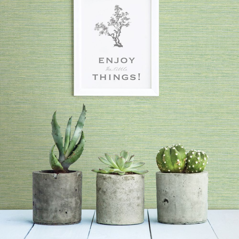Grasscloth Wallpaper - Green - by A Street Prints