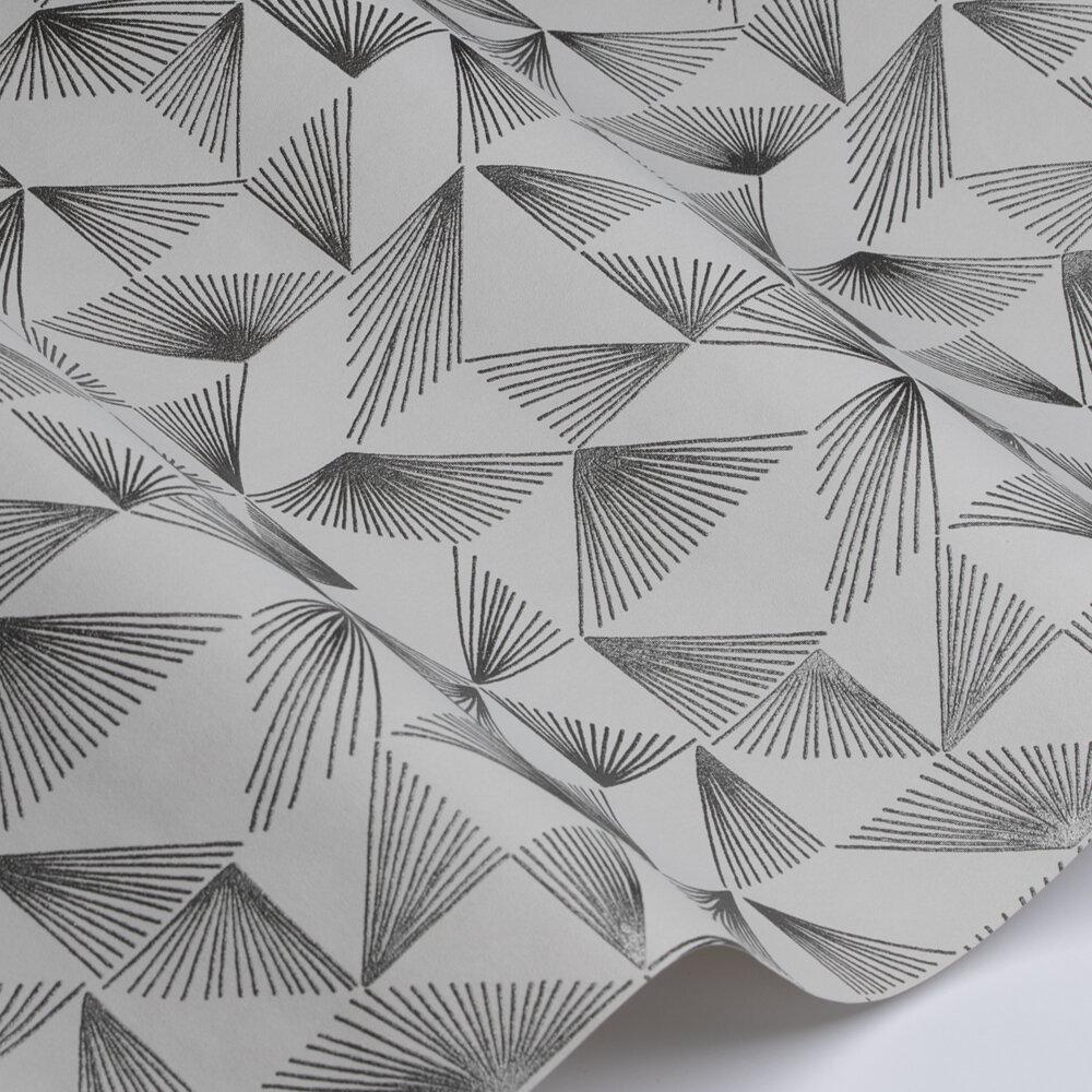 Geo Rays  Wallpaper - Greige / Silver - by Galerie