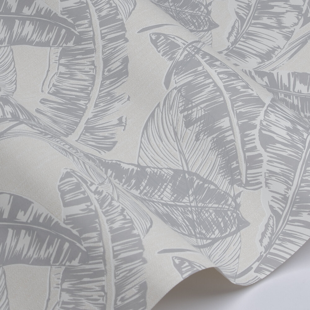 Jungle Leaf  Wallpaper - Beige - by Galerie
