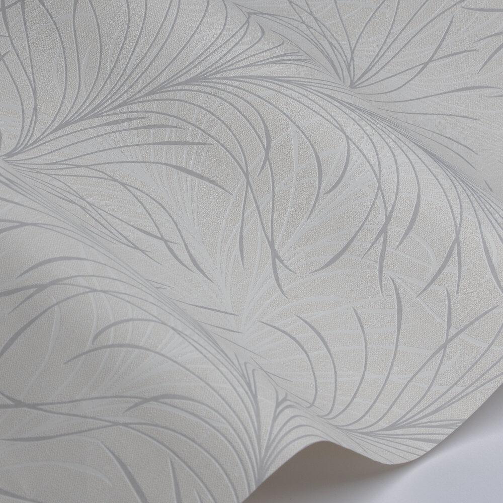 Swirl  Wallpaper - Beige / White - by Galerie