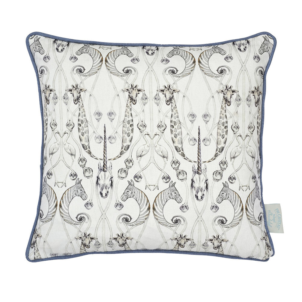Le Chateau Des Animaux Cushion - Natural - by The Chateau by Angel Strawbridge