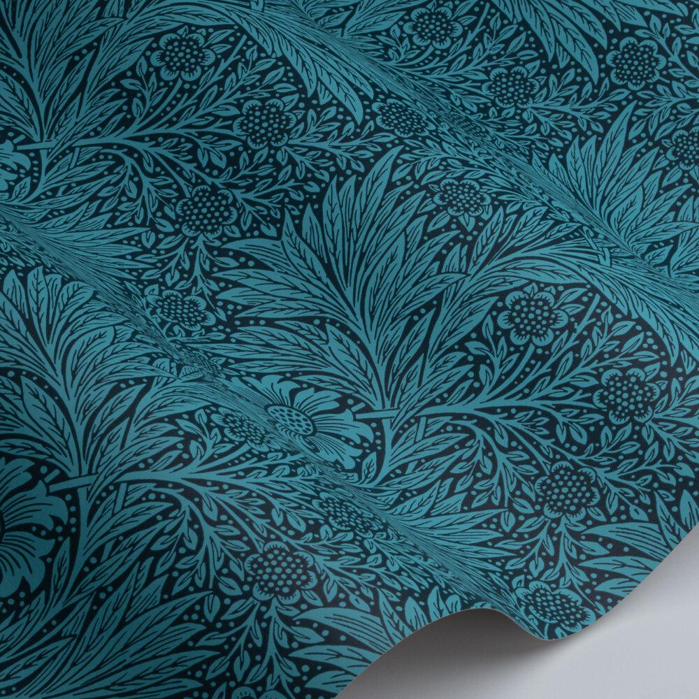 Marigold Wallpaper - Navy - by Morris