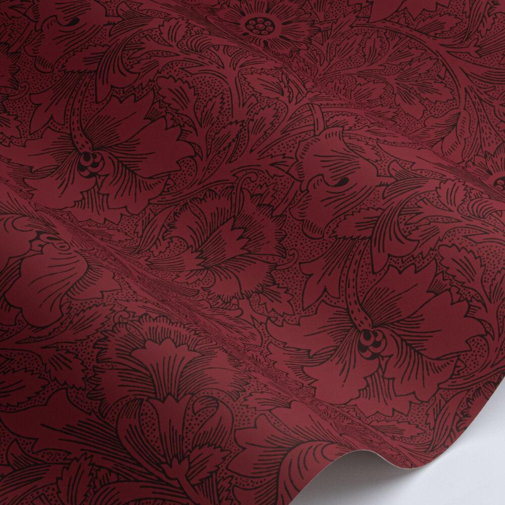 Poppy Wallpaper - Claret - by Morris