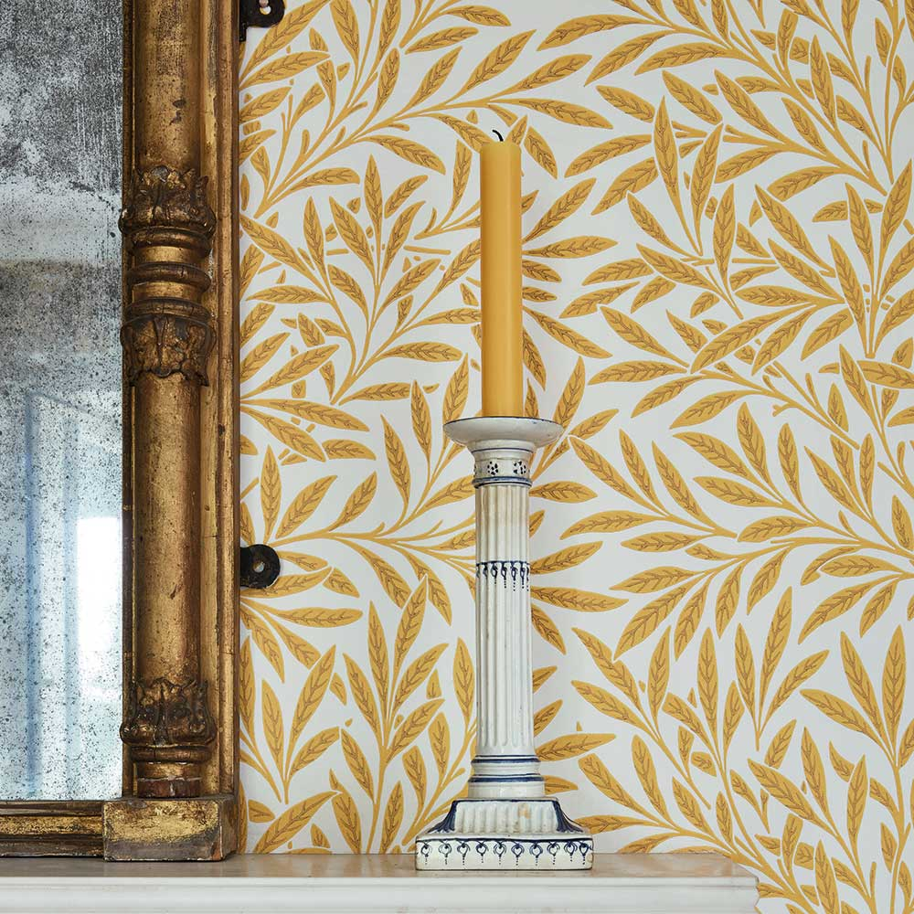 Willow Wallpaper - Yellow - by Morris
