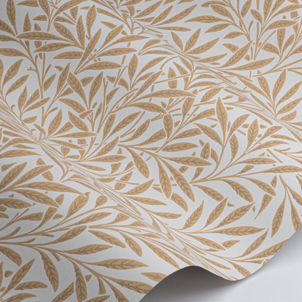 Willow Wallpaper - Cream / Brown - by Morris