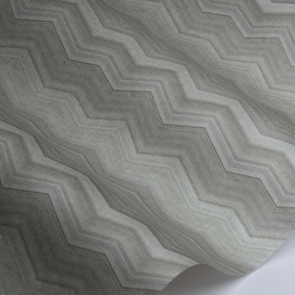 Fleuve   Wallpaper - Silver / Green - by SketchTwenty 3