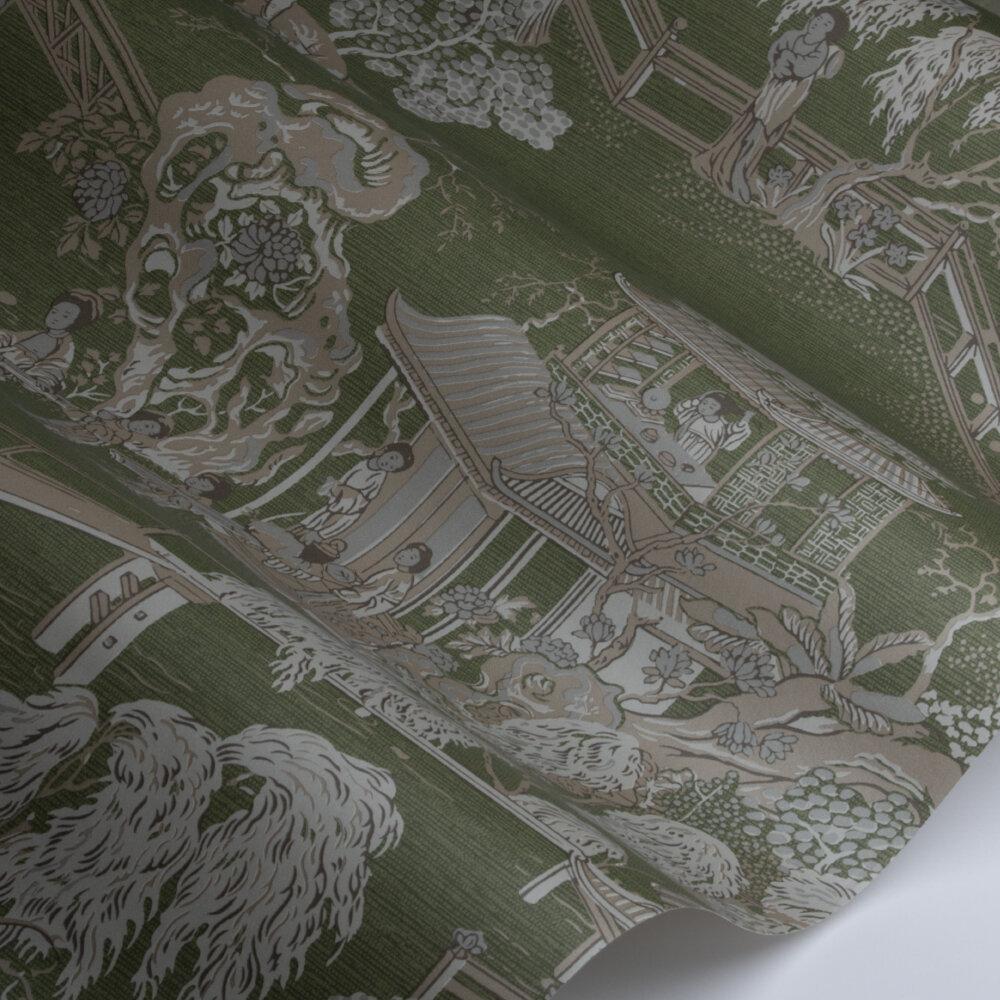 Pagoda   Wallpaper - Oriental Green - by SketchTwenty 3