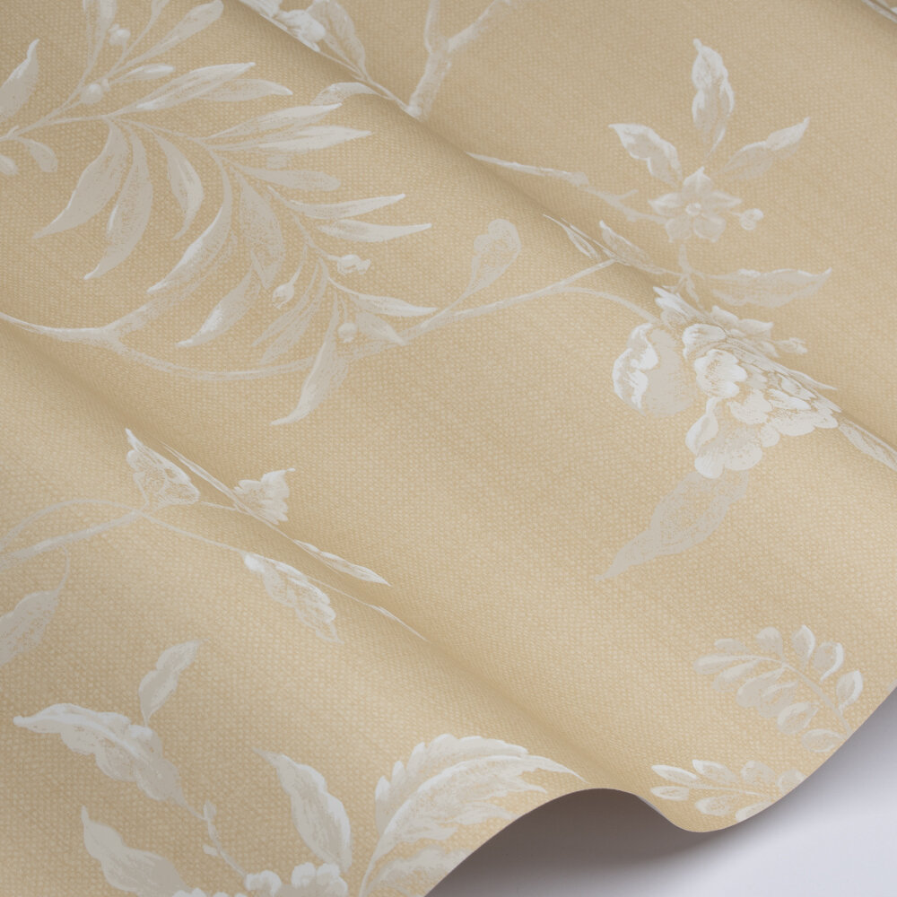 Swedish Tree Wallpaper - Yellow - by Colefax and Fowler