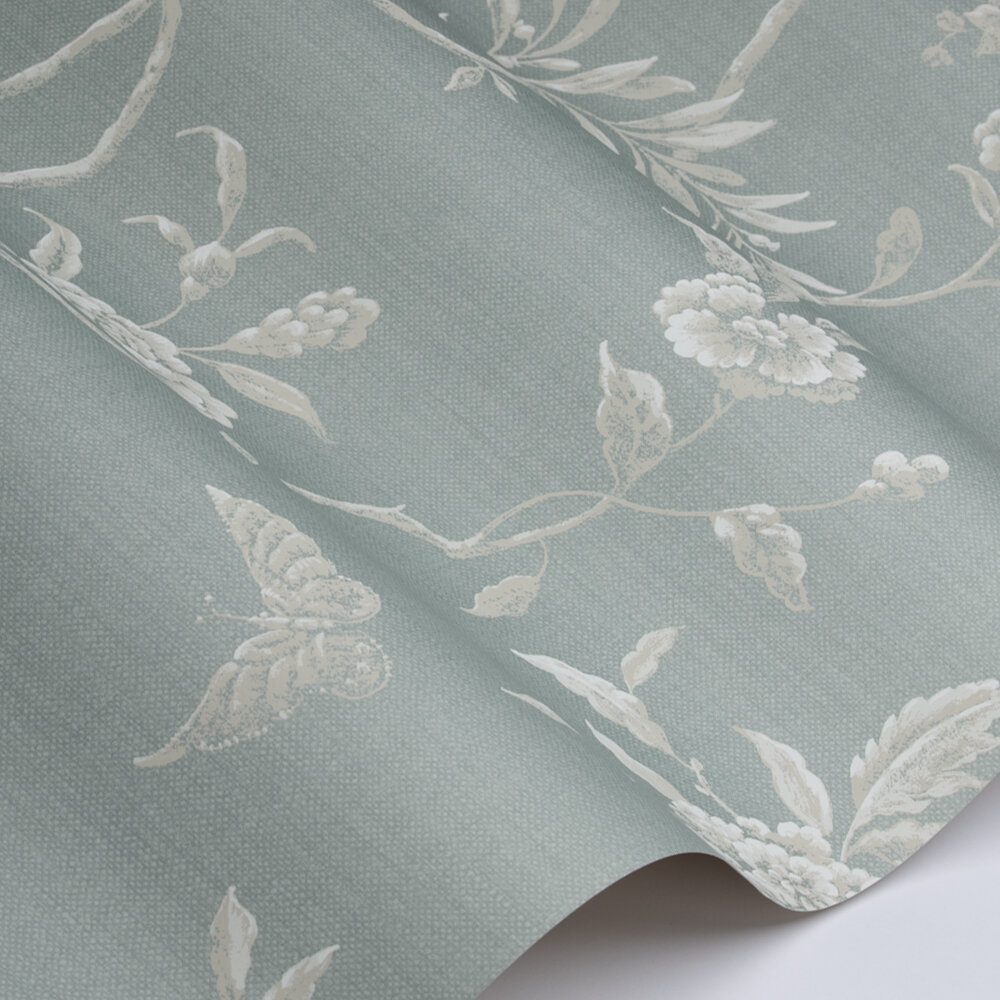 Swedish Tree Wallpaper - Old Blue - by Colefax and Fowler