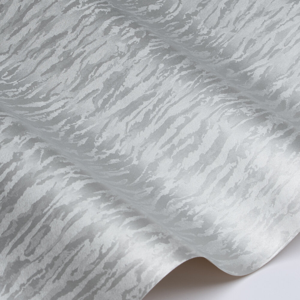 Textile Texture Wallpaper - Silver  - by Galerie