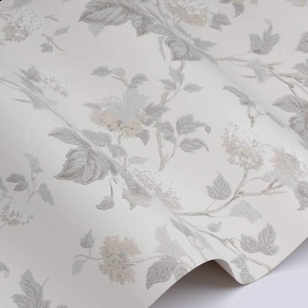 Chantilly Wallpaper - Silver / Leaf - by Colefax and Fowler