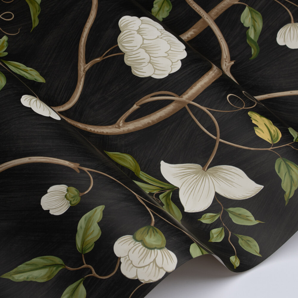 Snow Tree Wallpaper - Ebony - by Colefax and Fowler