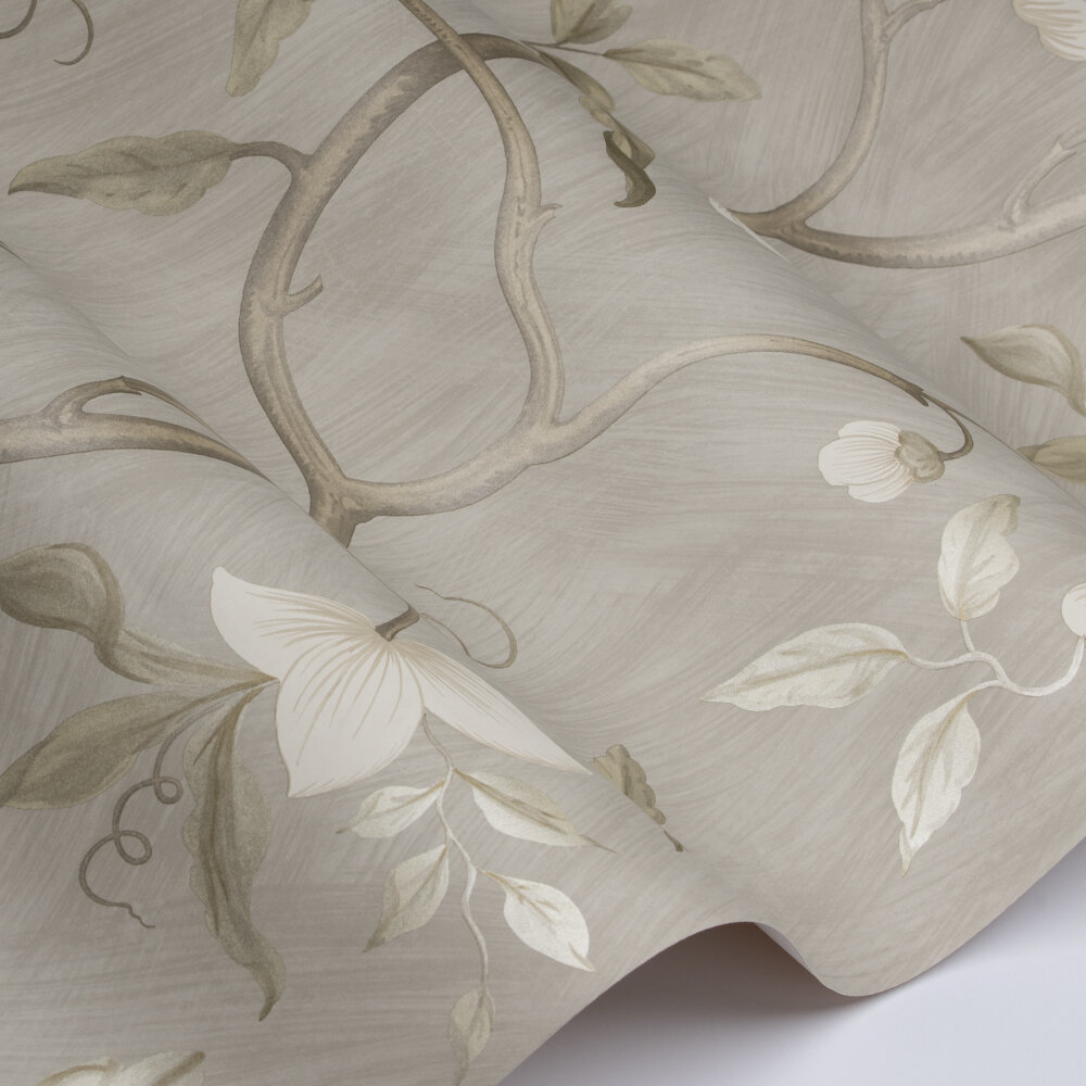 Snow Tree Wallpaper - Silver - by Colefax and Fowler