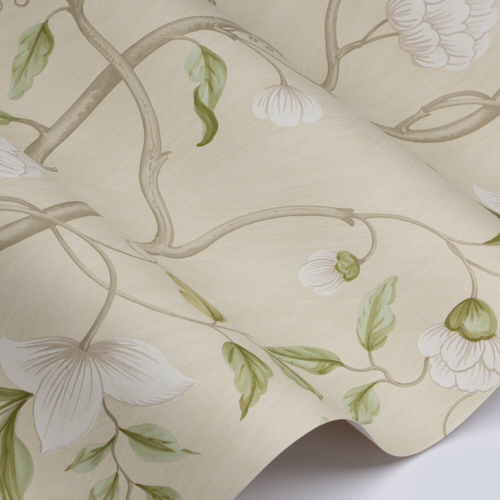 Snow Tree Wallpaper - Ivory - by Colefax and Fowler