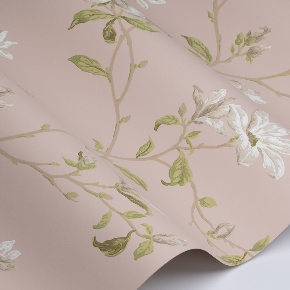 Marchwood Wallpaper - Shell Pink - by Colefax and Fowler