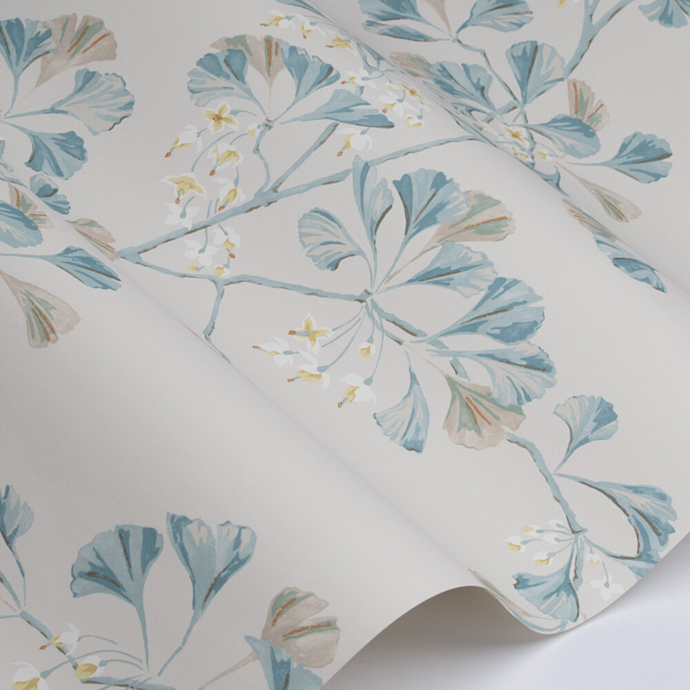 Greenacre Wallpaper - Old Blue - by Colefax and Fowler