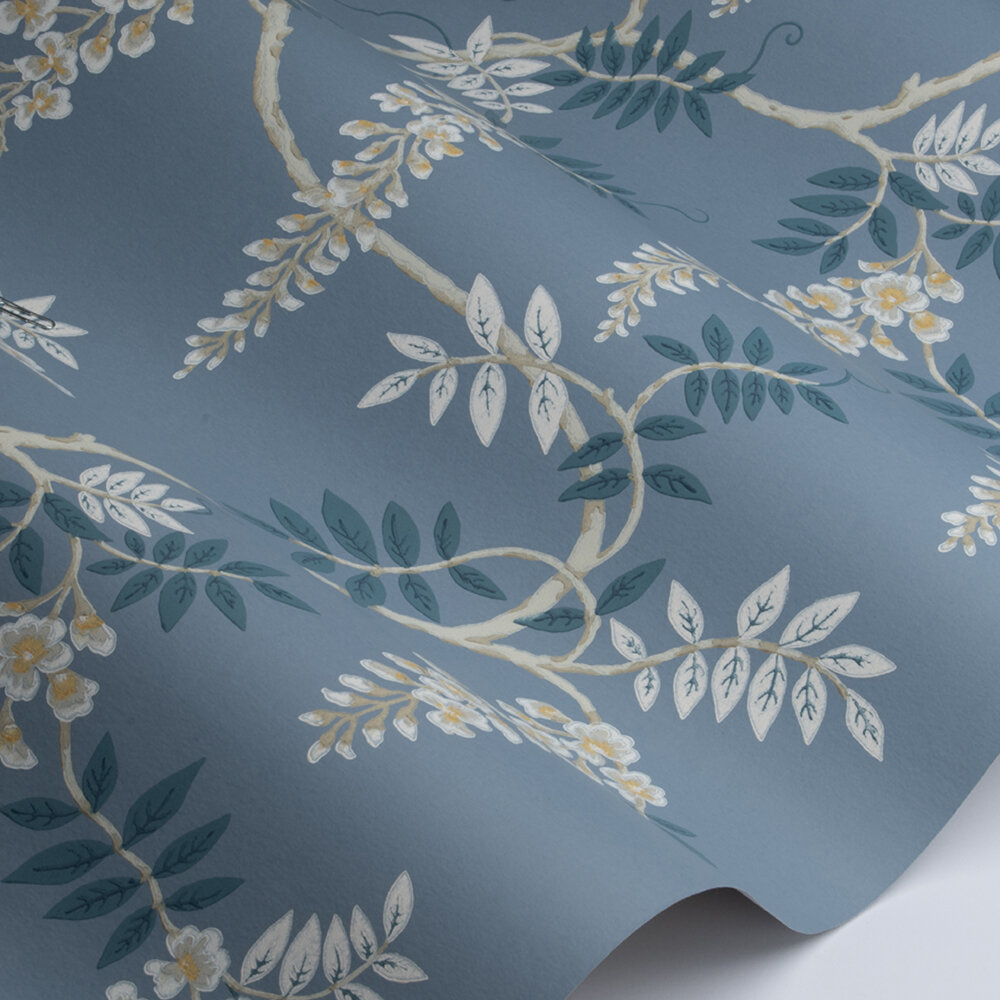 Grayshott Wallpaper - Navy - by Colefax and Fowler