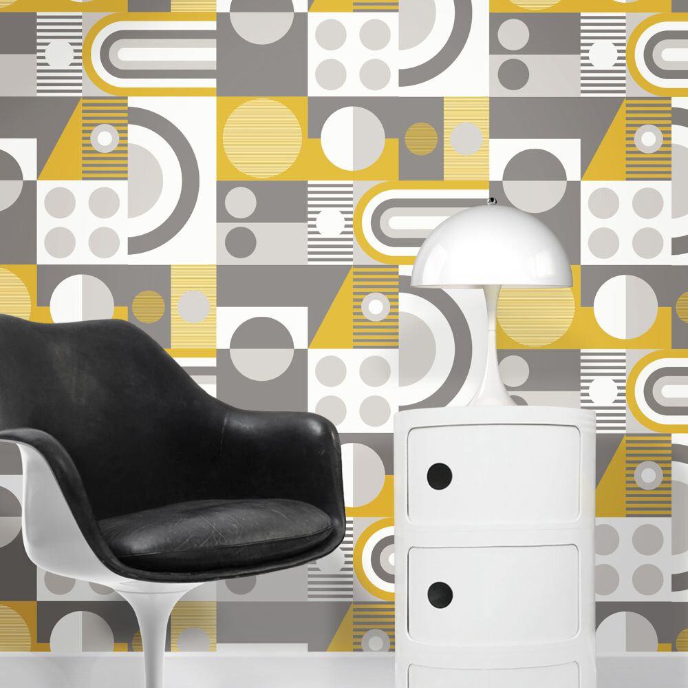 FAB! Wallpaper - Mustard - by Mini Moderns