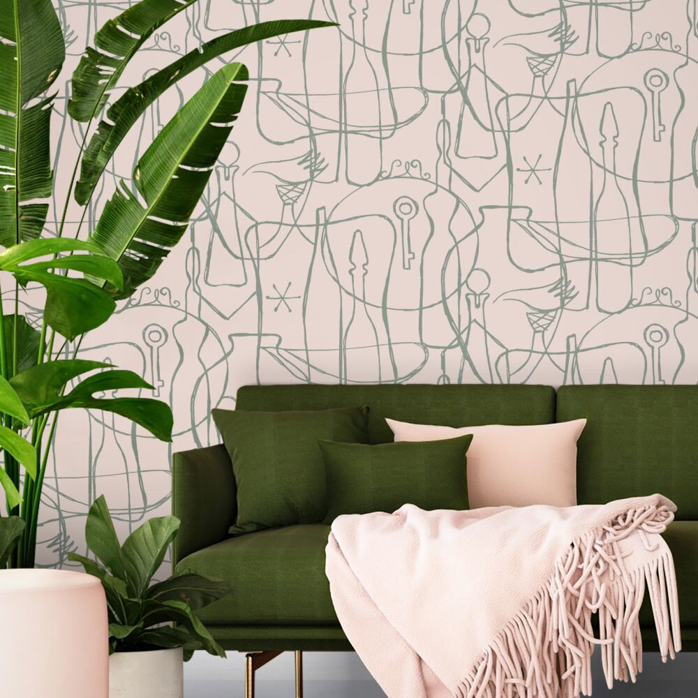 Atelier Wallpaper - Rose Marais - by Mini Moderns