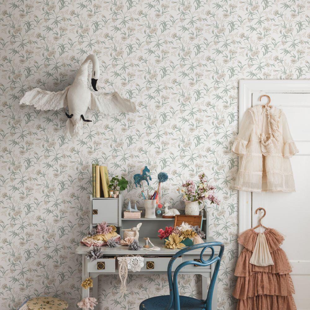 Emilie Wallpaper - Spring Green - by Sandberg