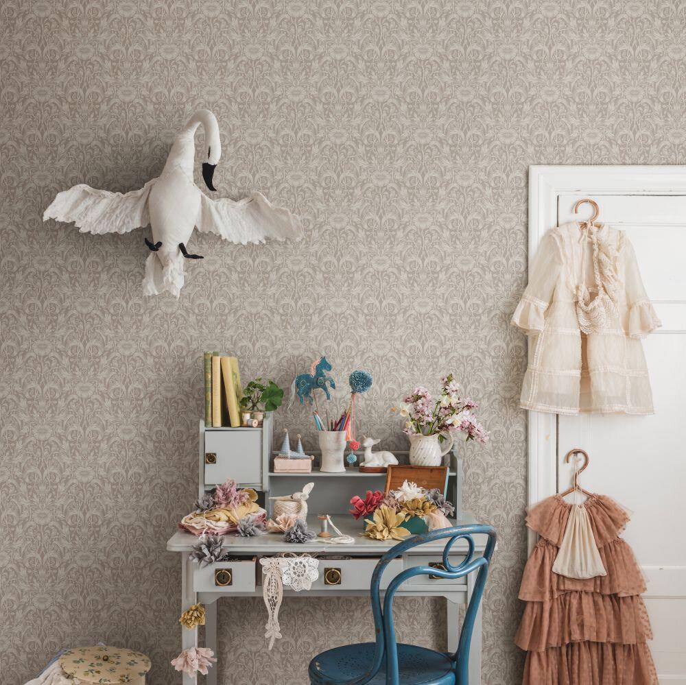 Emil Wallpaper - Blush - by Sandberg