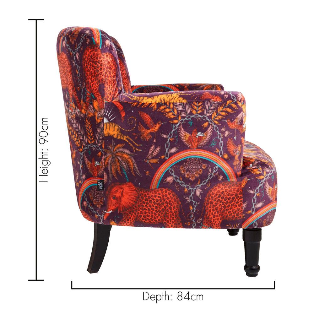 Dalston Chair - Zambezi  Armchair - Wine - by Emma J Shipley